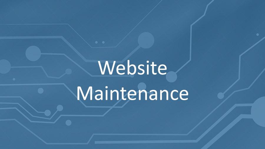 Website Maintenance November 26